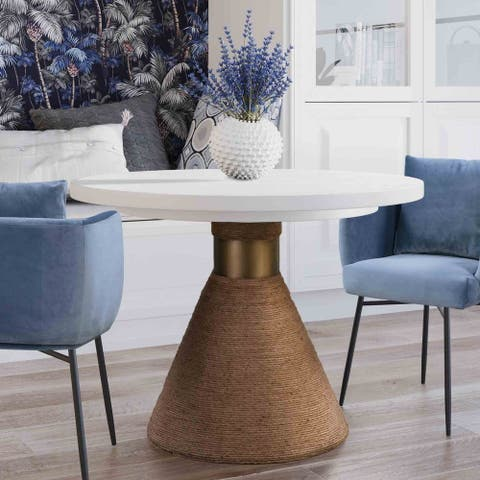 """Rishi Natural Rope 47.5"""" Round Table"""
