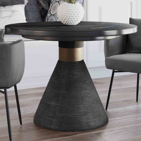 Strick & Bolton Myra Black Rope Round Table