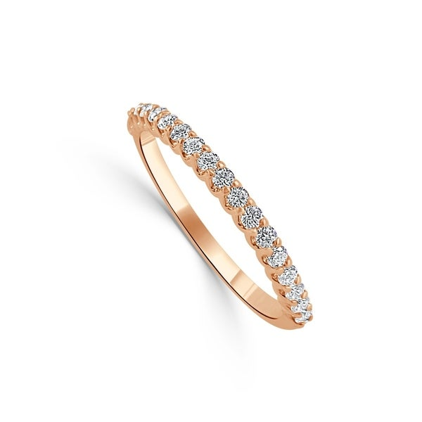 2460c7a5e76e5 14K Rose Gold 1/4 ct TDW Diamond Band