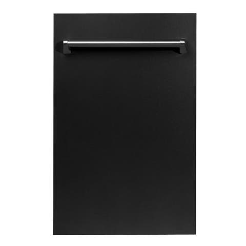 18 in. Top Control Dishwasher in Black Matte &Traditional Style Handle