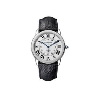 Cartier Women's WSRN0021 'Ronde Solo' Black Leather Watch