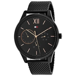 Tommy Hilfiger Black Stainless Steel Mesh Mens Watch 1791420