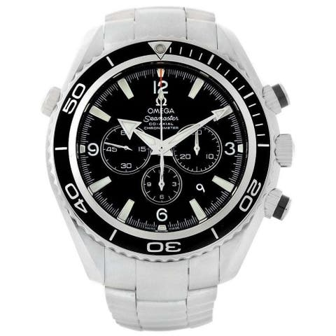Omega Men's 2210.50.00 'Seamaster Planet Ocean' Chronograph Stainless Steel Watch