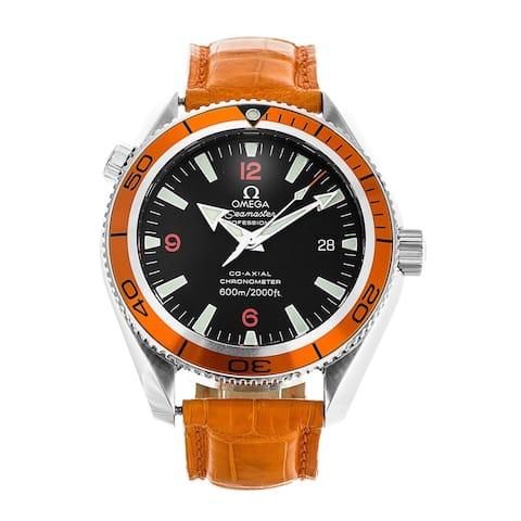 Omega Men's 2909.50.38 'Seamaster Planet Ocean 600M' Orange Rubber Watch