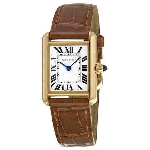 Cartier Women's W1529856 'Tank' Brown Leather Watch