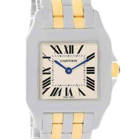 Cartier Women's W25067Z6 'Santos' Two-Tone Stainless Steel Watch