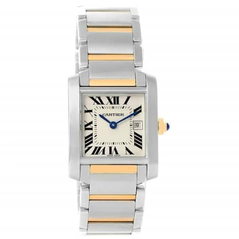 Cartier Unisex W51012Q4 'Tank Francaise' Two-Tone Stainless Steel Watch