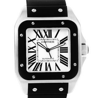 Link to Cartier Unisex W20121U2 'Santos' Black Rubber Watch Similar Items in Men's Watches
