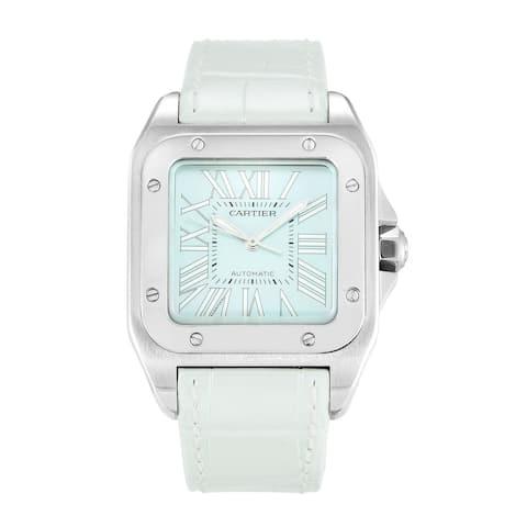 Cartier Unisex W20132X8 'Santos' Leather Watch