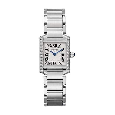 Cartier Women's W4TA0008 'Tank Francaise' Stainless Steel Watch