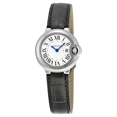Cartier Women's W69018Z4 'Ballon Bleu' Black Leather Watch