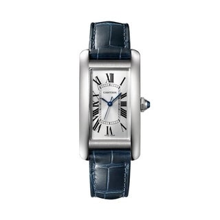 Link to Cartier Women's WSTA0017 'Tank' Blue Leather Watch Similar Items in Women's Watches
