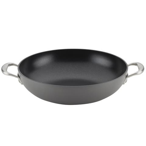 """Anolon Allure Nonstick Wok with Side Handles, 12"""", Drk Gry"""