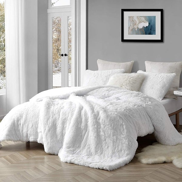 Coma Inducer Oversized Comforter - Are You Kidding - White (Shams not included). Opens flyout.