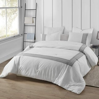 Link to Boutique Border Textured Oversized Comforter - Hotel Gray (Shams not included) Similar Items in Comforter Sets