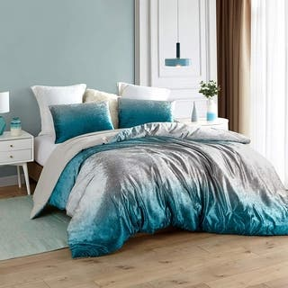 Coma Inducer Oversized Oversized Comforter - Ombre Velvet Crush - Ocean Depths Teal/Silver Gray