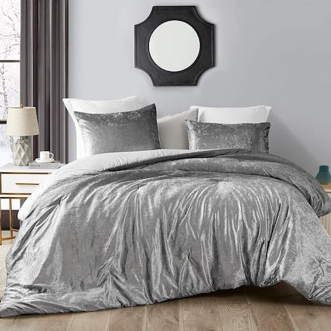 Coma Inducer Oversized Oversized Comforter - Ombre Velvet Crush - Light Gray/Dark Gray