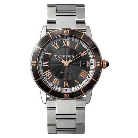 Cartier Men's W2RN0007 'Ronde Croisiere De Cartier' Stainless Steel Watch