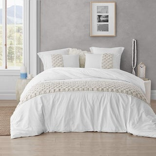Knit and Loop Textured Oversized Duvet Cover - Almond Cream