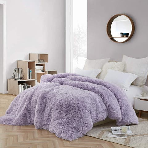 Coma Inducer Oversized Duvet Cover - Are You Kidding - Orchid Petal/White