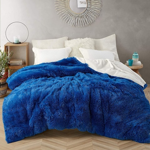 Coma Inducer Oversized Duvet Cover - Are You Kidding - Royal Blue/White