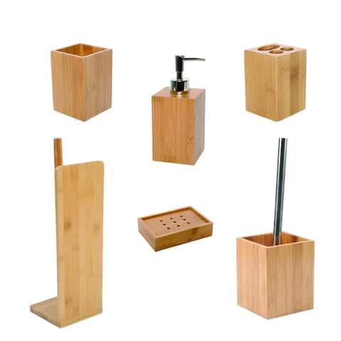Ecobio Bamboo Bath Accessory Set 6-Pieces