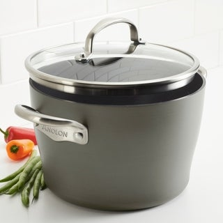 Link to Anolon Allure Hard-Anodized Nonstick Dutch Oven with Lid, 5qt, Drk Gry Similar Items in Cookware