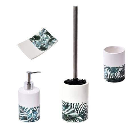 Tropical Collection Bath Accessory Set 4-Pieces