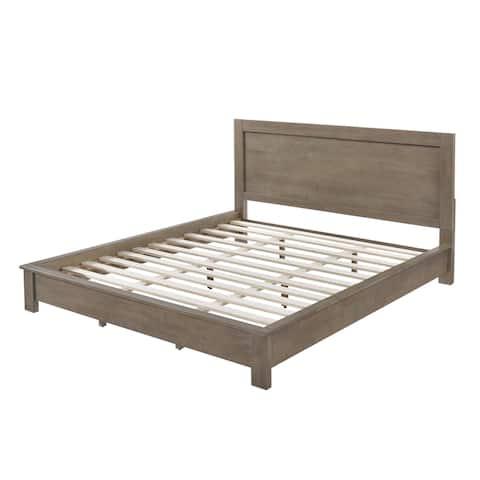 Strick & Bolton Alsa King Light Grey Bed