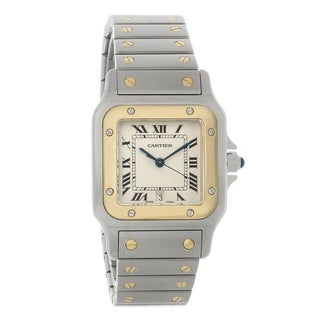 Link to Cartier Men's W20011C4 'Santos' Two-Tone 18kt Gold and Stainless Steel Watch Similar Items in Men's Watches