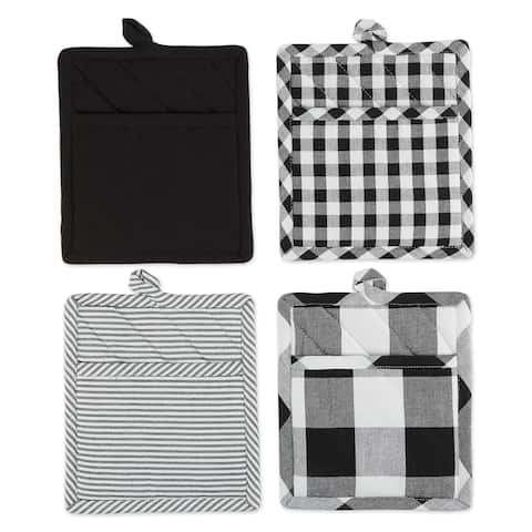 DII Gingham Potholder Set of 4