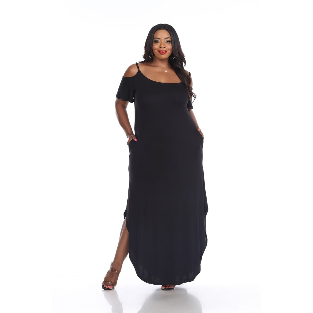 White Mark Womens Plus Size Lexi Maxi Dress