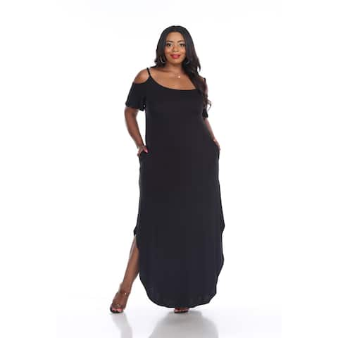 White Mark Women's Plus Size 'Lexi' Maxi Dress