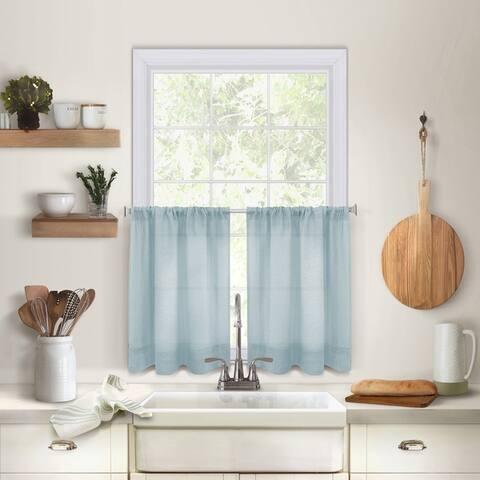 Pintuck Kitchen Window Tier Set of 2