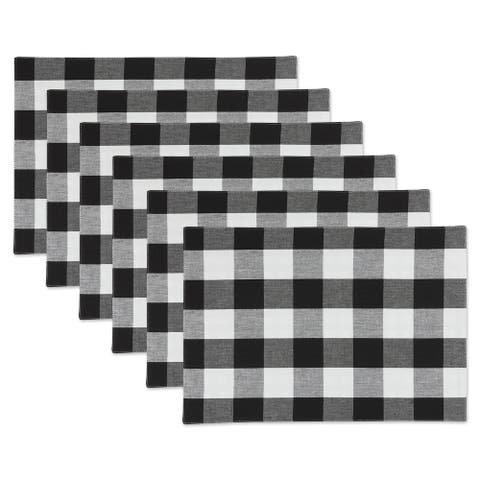 Porch & Den Crestline Gingham/Buffalo Check Reversible Placemat (Set of 4)