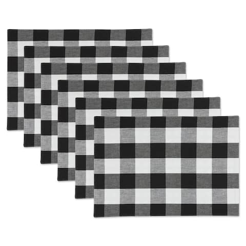Porch & Den Crestline Gingham/Buffalo Check Reversible Placemat (Set of 4)