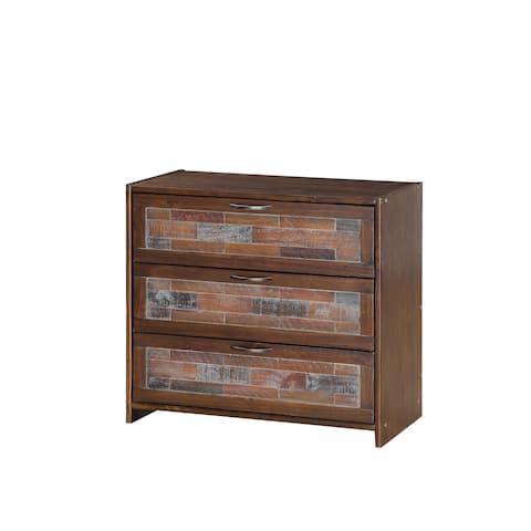 Donco Kids Artesian 3 Drawer Chest in Brown Glaze