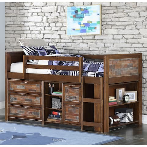 Donco Kids Twin Artesian Modular Low Loft with Case Goods