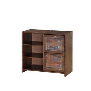 Donco Kids Artesian 2 Drawer Chest with Shelves in Brown Glaze