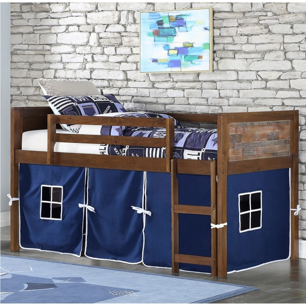 Taylor & Olive Aspen Brown Low-loft Twin Bed