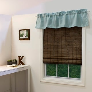 Radiance Cordless Cocoa Dockside Flatstick Bamboo Roman Shade (As Is Item)