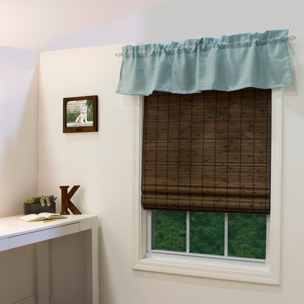 Radiance Cordless Cocoa Dockside Flatstick Bamboo Roman Shade (As Is Item). Opens flyout.