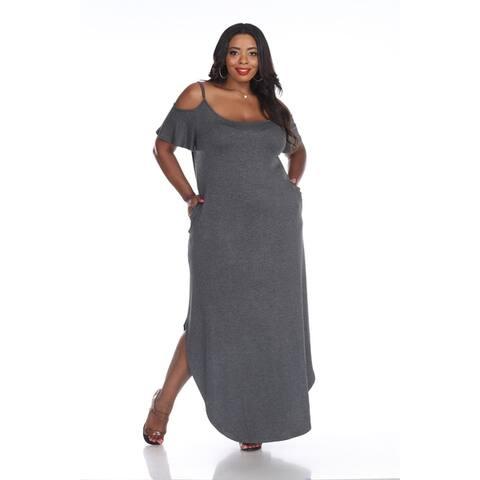 White Mark Women's Maternity 'Reta' Maxi Dress