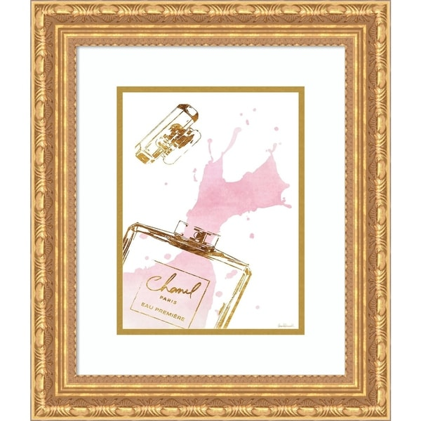 Framed Art Print 'Pink Splash Chanel' by Amanda Greenwood - 18x21-inch
