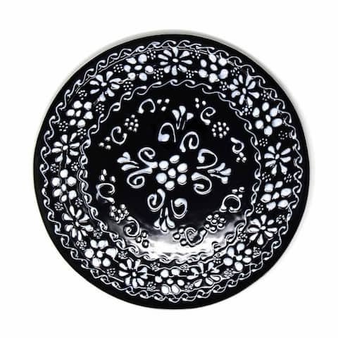 The Curated Nomad Somerset Ink-black Pottery Trivet Hot Plate Holder
