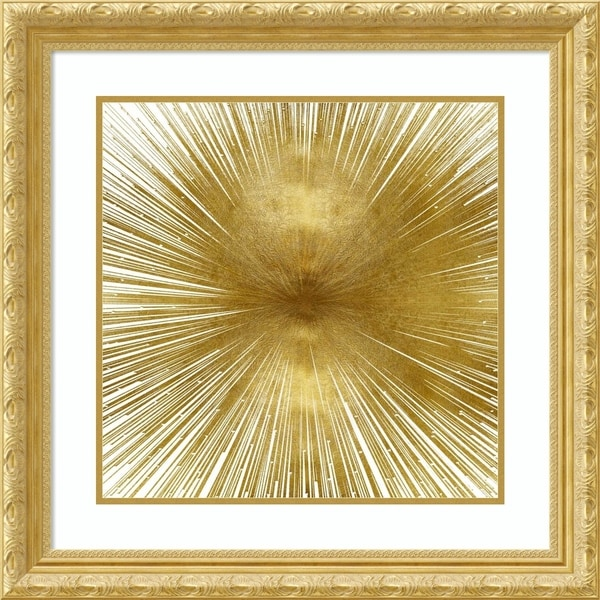Framed Art Print 'Radiant Gold' by Abby Young - Outer Size 27x27-inch