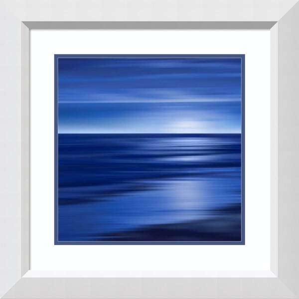 Framed Art Print 'Midnight Blue' by Carly Anderson - 24x24-inch