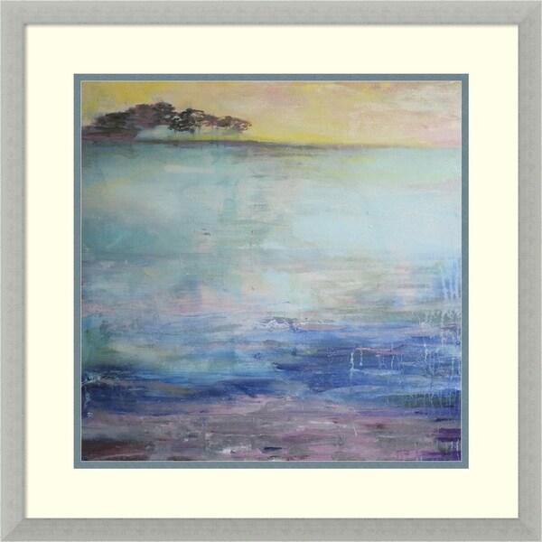 Framed Art Print 'Coastal' by Annie Flynn - Outer Size 23 x 23-inch