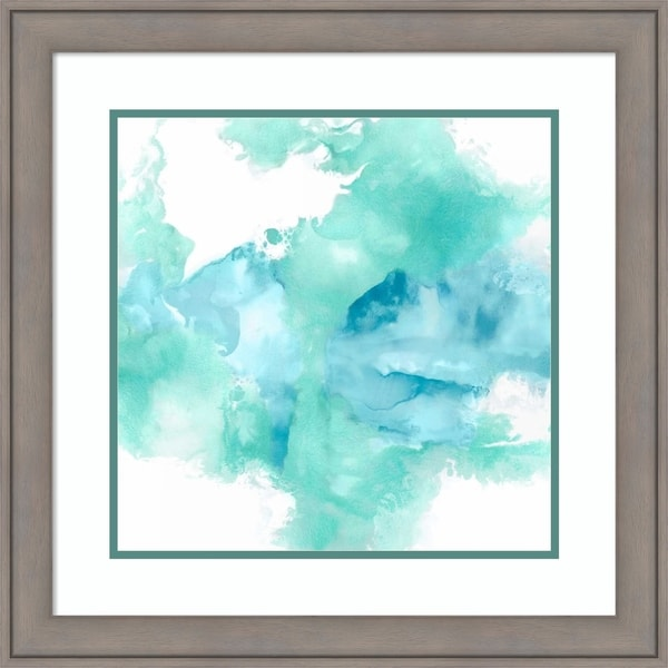 Framed Art Print 'Ascending in Aqua' by Daniela Hudson - 24x24-inch