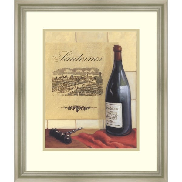 Framed Art Print 'Sauternes' by David Marrocco - Outer Size 18x21-inch